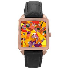 Geo Fun 8 Colorful Rose Gold Watches