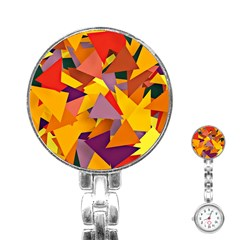 Geo Fun 8 Colorful Stainless Steel Nurses Watches