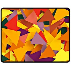 Geo Fun 8 Colorful Double Sided Fleece Blanket (Medium)