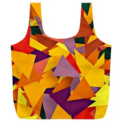 Geo Fun 8 Colorful Full Print Recycle Bags (L)