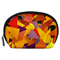 Geo Fun 8 Colorful Accessory Pouches (Large)