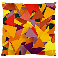Geo Fun 8 Colorful Standard Flano Cushion Cases (One Side)