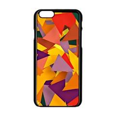 Geo Fun 8 Colorful Apple Iphone 6 Black Enamel Case