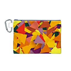 Geo Fun 8 Colorful Canvas Cosmetic Bag (M)