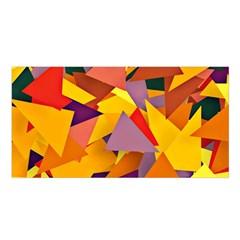 Geo Fun 8 Colorful Satin Shawl