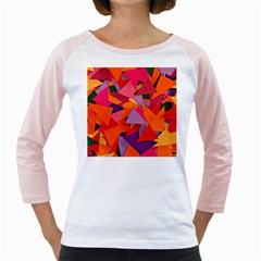 Geo Fun 8 Hot Colors Girly Raglans