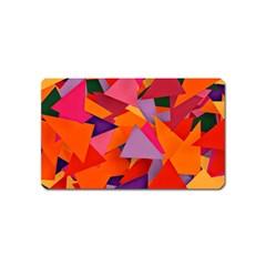 Geo Fun 8 Hot Colors Magnet (Name Card)