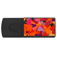 Geo Fun 8 Hot Colors USB Flash Drive Rectangular (2 GB)