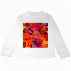 Geo Fun 8 Hot Colors Kids Long Sleeve T-Shirts