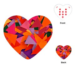 Geo Fun 8 Hot Colors Playing Cards (Heart)
