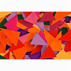 Geo Fun 8 Hot Colors Collage 12  X 18