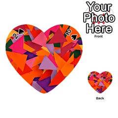 Geo Fun 8 Hot Colors Playing Cards 54 (heart)