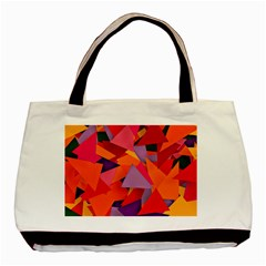 Geo Fun 8 Hot Colors Basic Tote Bag (two Sides)