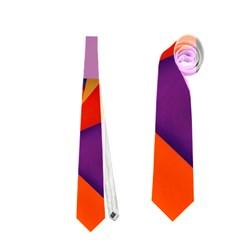 Geo Fun 8 Hot Colors Neckties (One Side)