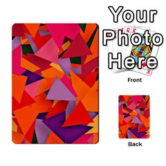 Geo Fun 8 Hot Colors Multi-purpose Cards (Rectangle)