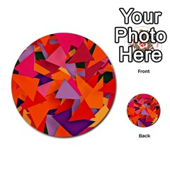 Geo Fun 8 Hot Colors Multi Purpose Cards (round)