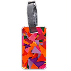 Geo Fun 8 Hot Colors Luggage Tags (Two Sides)