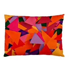 Geo Fun 8 Hot Colors Pillow Cases (two Sides)