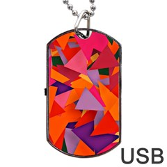 Geo Fun 8 Hot Colors Dog Tag Usb Flash (one Side)