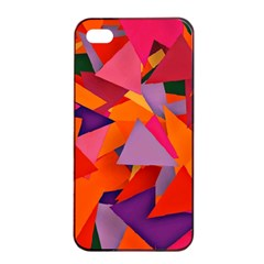 Geo Fun 8 Hot Colors Apple iPhone 4/4s Seamless Case (Black)