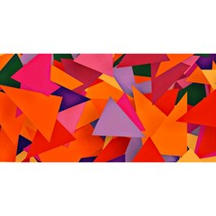 Geo Fun 8 Hot Colors You Are Invited 3d Greeting Card (8x4)