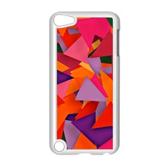 Geo Fun 8 Hot Colors Apple iPod Touch 5 Case (White)