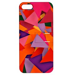Geo Fun 8 Hot Colors Apple iPhone 5 Hardshell Case with Stand