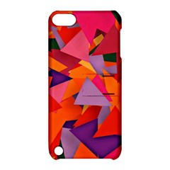 Geo Fun 8 Hot Colors Apple iPod Touch 5 Hardshell Case with Stand
