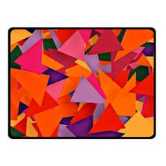 Geo Fun 8 Hot Colors Double Sided Fleece Blanket (small)