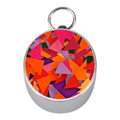 Geo Fun 8 Hot Colors Mini Silver Compasses