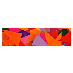 Geo Fun 8 Hot Colors Satin Scarf (Oblong)