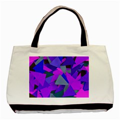 Geo Fun 8 Inky Blue Basic Tote Bag