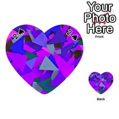 Geo Fun 8 Inky Blue Playing Cards 54 (Heart)