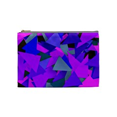 Geo Fun 8 Inky Blue Cosmetic Bag (Medium)