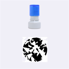 Geo Fun 8 Inky Blue Rubber Round Stamps (small)