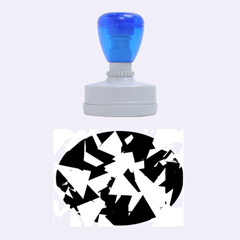 Geo Fun 8 Inky Blue Rubber Oval Stamps