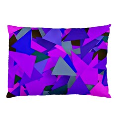 Geo Fun 8 Inky Blue Pillow Cases (Two Sides)
