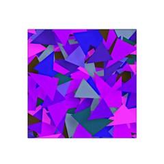 Geo Fun 8 Inky Blue Satin Bandana Scarf
