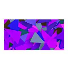 Geo Fun 8 Inky Blue Satin Wrap