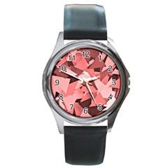 Geo Fun 8 Peach Round Metal Watches
