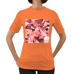 Geo Fun 8 Peach Women s Dark T Shirt