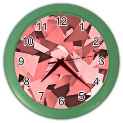 Geo Fun 8 Peach Color Wall Clocks
