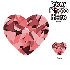Geo Fun 8 Peach Multi-purpose Cards (Heart)