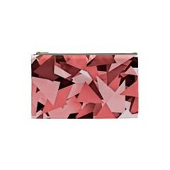 Geo Fun 8 Peach Cosmetic Bag (Small)