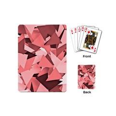 Geo Fun 8 Peach Playing Cards (Mini)