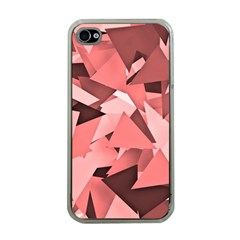 Geo Fun 8 Peach Apple iPhone 4 Case (Clear)