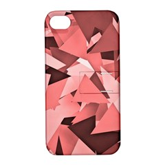 Geo Fun 8 Peach Apple iPhone 4/4S Hardshell Case with Stand