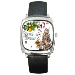 Free books for Christmas Square Metal Watches