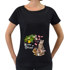 Free books for Christmas Women s Loose-Fit T-Shirt (Black)