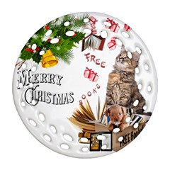 Free books for Christmas Ornament (Round Filigree)